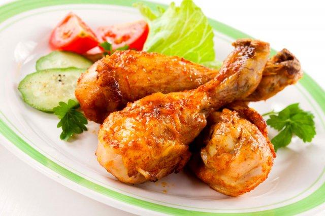 Курица в чесночной пасте