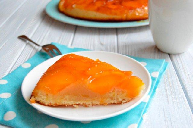 Необычный рецепт персикового торта