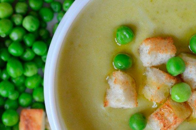 Суп-жюльен с консервированным зелёным горошком