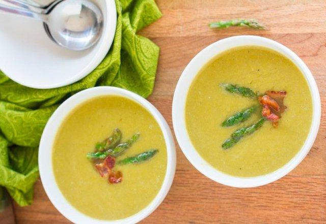 Домашний крем-суп из спаржи