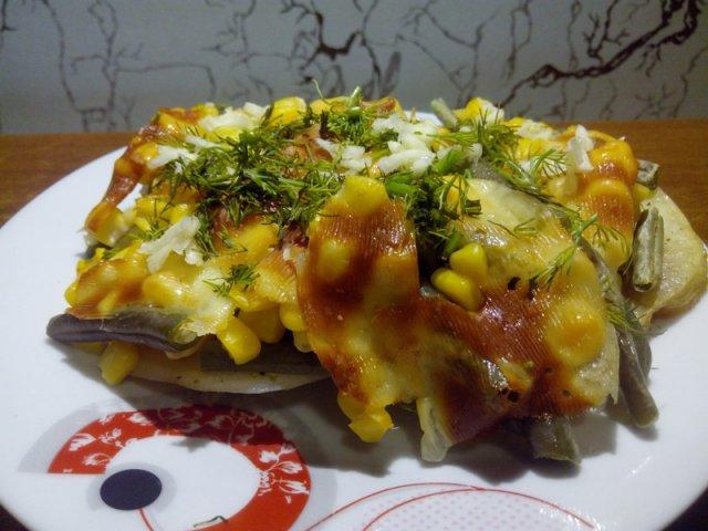 Гарнир из овощей, запечённых с сыром.