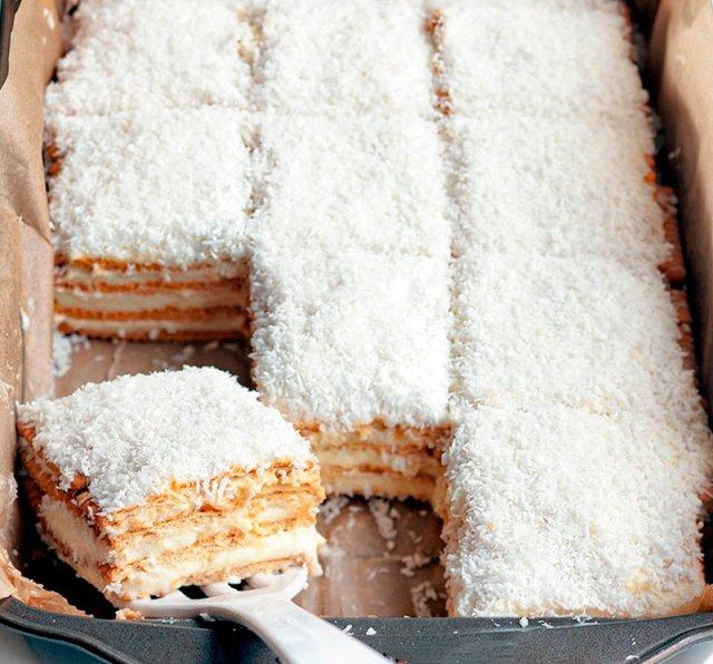 Торт без выпечки «Рафаэлло»