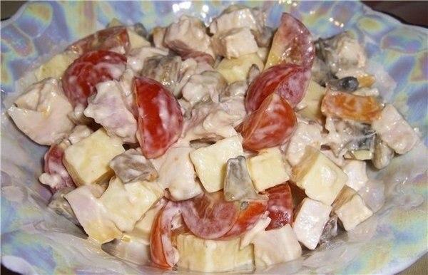 Салат с копченной курочкой 'Аппетит'