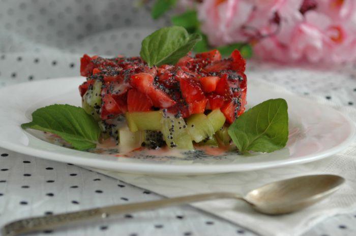 Тар-тар из клубники и киви. Рецепт приготовления