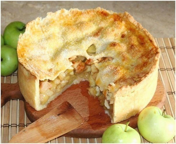 Пай с яблоками рецепт пошагово