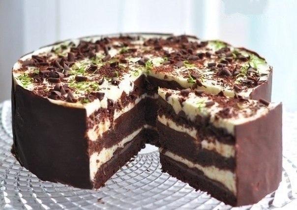 Торт 'Шоко-лайм'. Рецепт приготовления