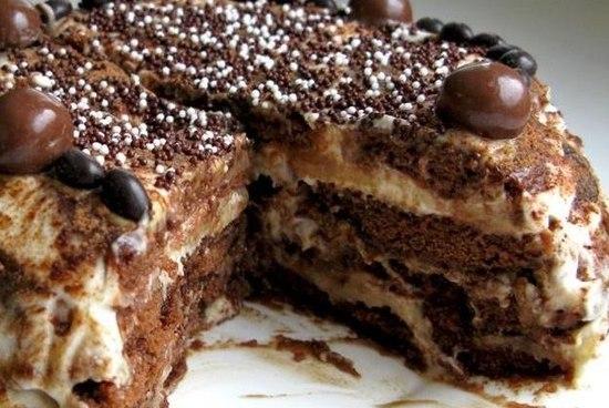 Пряничный торт без выпекания