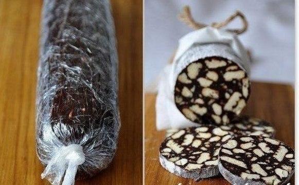 Шоколадное салями. Рецепт приготовления