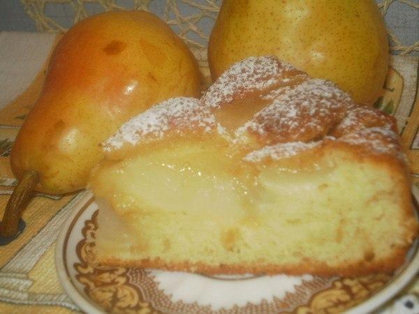 Рецепт пирог из груши