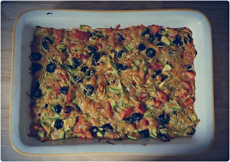 Рецепт приготовления:  Быстрая вкусная овощная запеканка