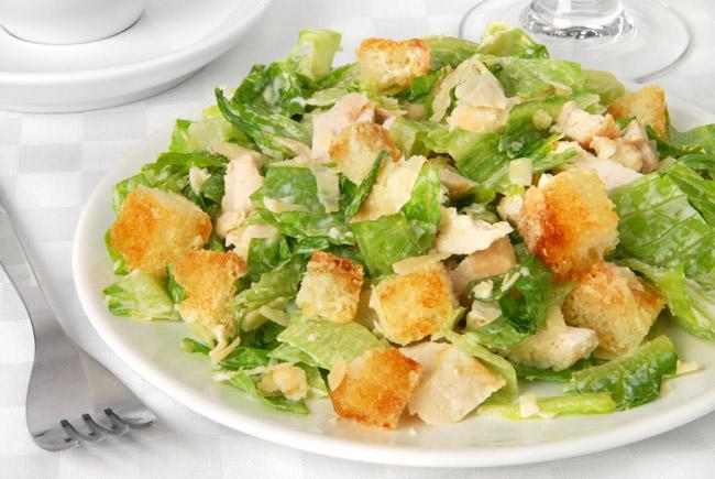 Рецепт приготовления салата Цезарь