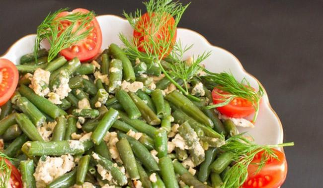 Рецепт приготовления зеленой фасоли с яйцами