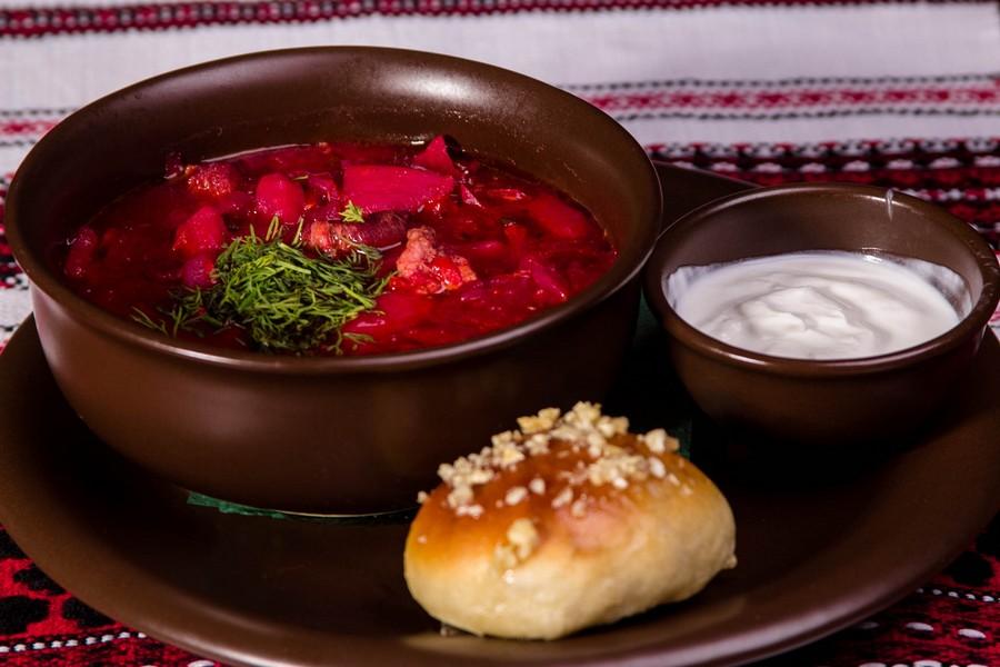 Рецепт приготовления полтавского борща с гречневыми клецками