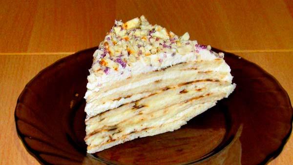 Рецепт 4: Торт из печенья с творожным кремом